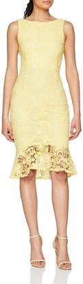 Paper Dolls Women's Crochet Lace Peplum Hem Dress