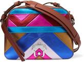 Paula Cademartori Didi metallic-paneled leather shoulder bag