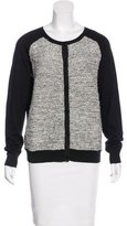 Sandro Paneled Knit cardigan