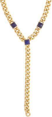 Fallon Signature Lapis Pyramid Y Pendant Necklace