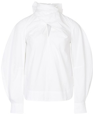 Ganni Organic cotton twisted blouse