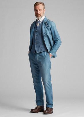 Ralph Lauren Indigo Striped Cotton Vest