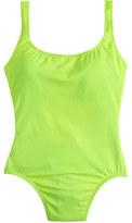 J.Crew Long torso neon scoopback one-piece swimsuit