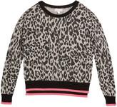 Design History Girls Girl's Knit Leopard Sweater, Size S-XL