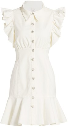 Cinq à Sept Yvette Ruffle Shirtdress