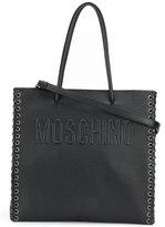 Moschino braided detail tote bag