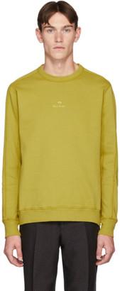 Paul Smith Yellow Garment-Dye Logo Regular-Fit Sweatshirt