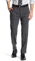 "Louis Raphael Solid Tweed Wool Blend Pant - 30-34"" Inseam"