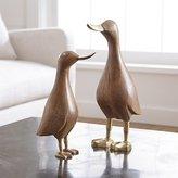 Crate & Barrel Wood Mallard Ducks