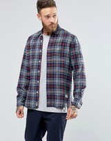Penfield Ravens Check Button Shirt In Regular Fit Brushed Cotton
