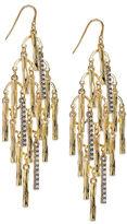 Earrings, Gold-Tone Pave Branch Chandelier Earrings