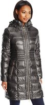 Via Spiga Women's Metallic Packable Down with Hood