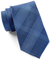 Calvin Klein Silk Intersect Grid Tie
