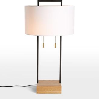 Rejuvenation Dixon Tall Drum Shade Table Lamp