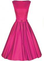 Boflyyang'Audrey' Hepburn Style Vintage 1950's Pastel Rockabilly Swing Dress