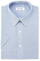 Pierre Cardin Navy Check Short Sleeve Dress Shirt