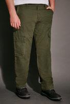 Yours Clothing BadRhino Khaki Cargo Trouser With Utility Pockets