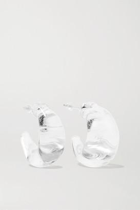 Maryam Nassir Zadeh Silver-tone Glass Hoop Earrings - White
