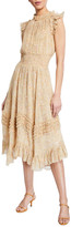 Rebecca Taylor Soleil Sleeveless Smocked Dress