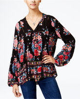American Rag Floral-Print Peasant Top, Only at Macy's