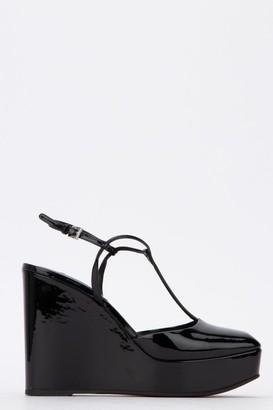 Prada Ankle Strap Wedges