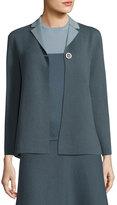 Iris von Arnim Reversible Double-Face Cashmere Jacket, Blue/Gray