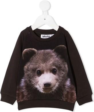 Molo Teddy Bear print crew neck sweatshirt