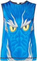 J.W.Anderson sleeveless dragon top - women - Polyester/Spandex/Elastane - 6
