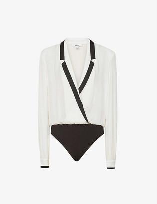 Reiss Jayde tuxedo cotton-blend body
