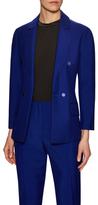 Christian Dior Notch Lapel Flap Pocket Blazer