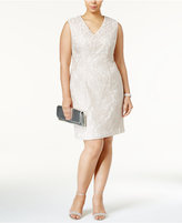 Alex Evenings Plus Size Embellished Lace Sheath Dress