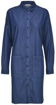 Selected Blue Tencel Denim Slfaugusta Shirtdress - Blue Denim / DK36-UK10