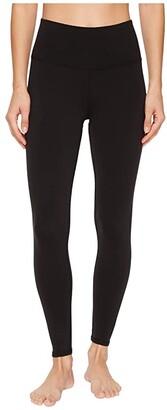 Alo 7/8 High Waist Airbrush Leggings (Black) Women's Casual Pants