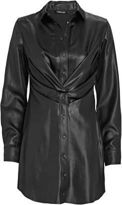 RtA Vivienne Faux Leather Shirt Dress