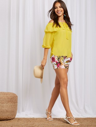 New York & Co. Off-The-Shoulder Blouse - Sweet Pea