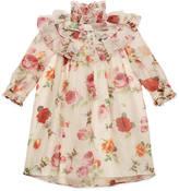 Gucci Children's rose print organza dress