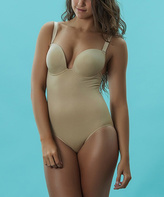 Nude Seamless Molded-Cup Shaper Bodysuit - Plus Too