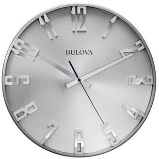Bulova Bulvoa Clocks C4846 Director 16 Inch Slim Metal Analog Wall Clock, Satin Pewter