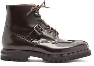 Church's Edford Buckle-strap Polished-leather Boots - Dark Brown