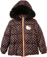 Hello Kitty Dotted Puffer Coat (Toddler/Kid) - Black-6X