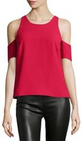 Elizabeth and James Emmett Crepe Cold-Shoulder Top, Cardinal