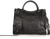 Balenciaga Velo Textured-leather Shoulder Bag - Black