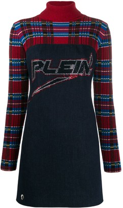 Philipp Plein Tartan Print Mini Dress