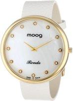 Swarovski Moog Paris Women's XWA3660 Gold-Plated Analog Element Markers Watch