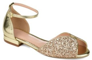 Brinley Co. Womens Peep-toe Glitter Pump