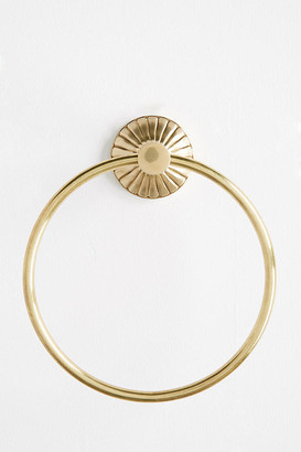 Anthropologie Fluted Towel Ring By in Brown Size M