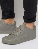 Asos Lace Up Sneakers In Block Gray