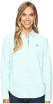 U.S. Polo Assn. Dot Print Oxford Shirt