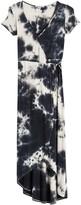Velvet Torch Faux Wrap Maxi Dress