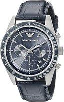 Emporio Armani Men's AR6089 Sport Blue Leather Watch